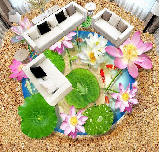 3D Bel Fleur Fond d'écran étage étage étage Peint en Autocollant Murale Plafond Chambre Art | Qualité Fine  1701c5