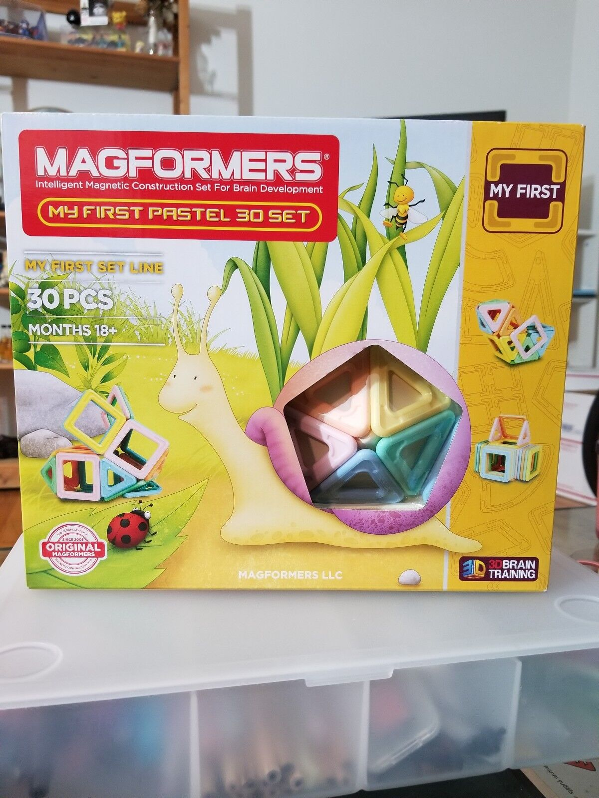 My First Magformers 30 Pieces Magnetic Shapes 3D Building months 18+
