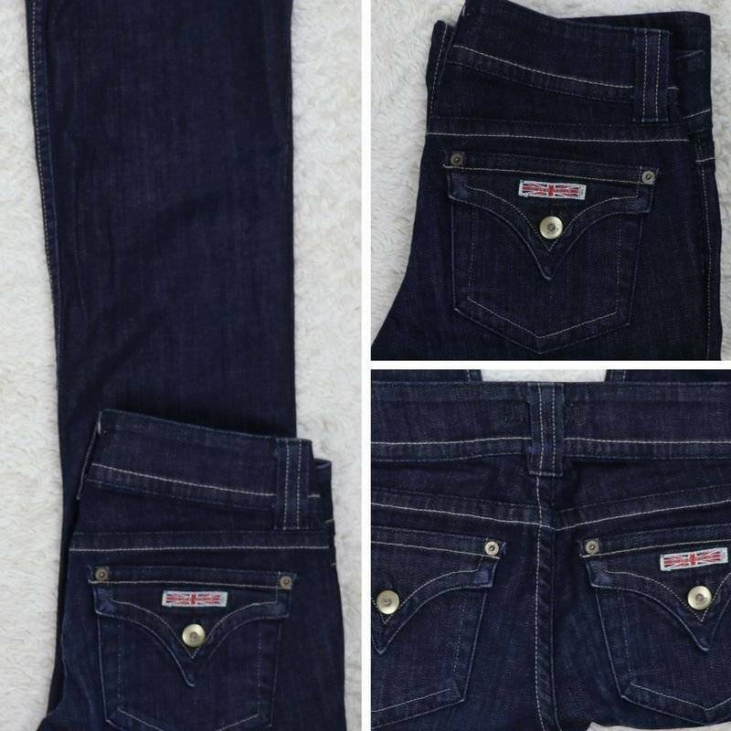 HUDSON Jeans dark wash boot cut low rise Tag 27 Actual 28 x 29