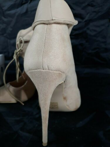 "Vice Women's Stiletto 4.75"" High Heels Taupe Suede IOB Size 37 EU 6.5 US"