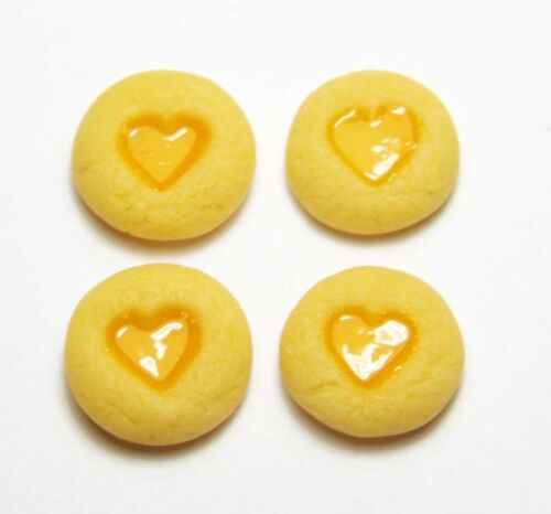 Doll Mini Food Bakery Cookie Biscuits 4 Dollhouse Miniature Jam Dot Cookies