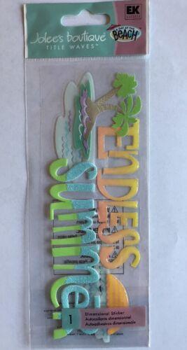"jolees boutique /""Endless Summer/"" Title Wave Dimensional Sticker"