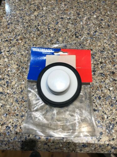 Details about  /Westbrass D209-50 Waste Disposal Stopper Powder Coat White Fits Many Brands