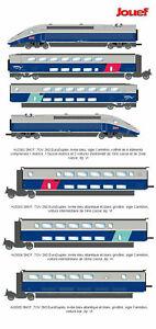 JOUEF-TGV-2N2-Euroduplex-blu-grigio-logo-carmillon-set-7-elementi-DUPLEX