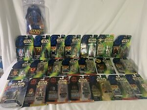 Huge-Star-Wars-Figure-Lot-22-Unopened-Total-Yoda-Luke-Ewoks-R2D2-And-More