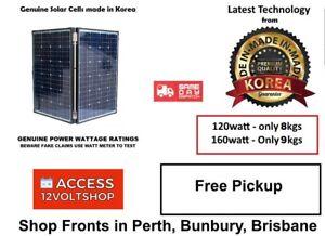 Details about Genuine 160 Watt 5KG Lightweight Folding Solar Panel 160W 12V  Caravan Kit