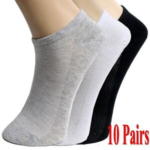 10Pairs-Summer-Men-Ankle-Socks-Low-Cut-Crew-Casual-Sport-Cotton-Blend-Socks-Soft
