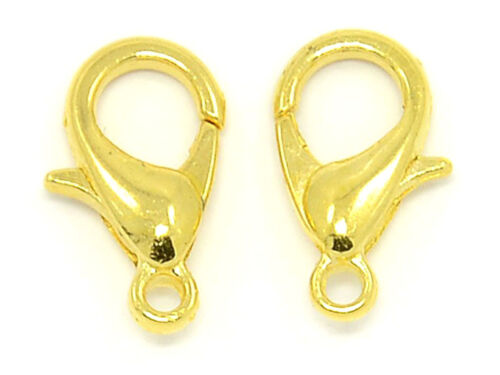 12x6mm Gold 500 Lobster Clasps Jewelry Findings Claw Connector