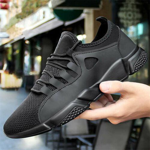 Transpirable Negro hombres zapatillas de deporte Hombre Zapatos para adultos