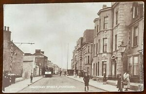 Causeway-Street-Portrush-Postcard-Co-Antrim-Northern-Ireland-Tram-Shops-People