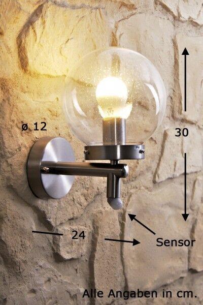 Clásica farola lámpara de parojo muro exterior de vidrio lámpara lámpara de parojo aussenlampe