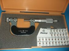 Mitutoyo Screw Thread Micrometer No 126 125 0 25mm 001mm
