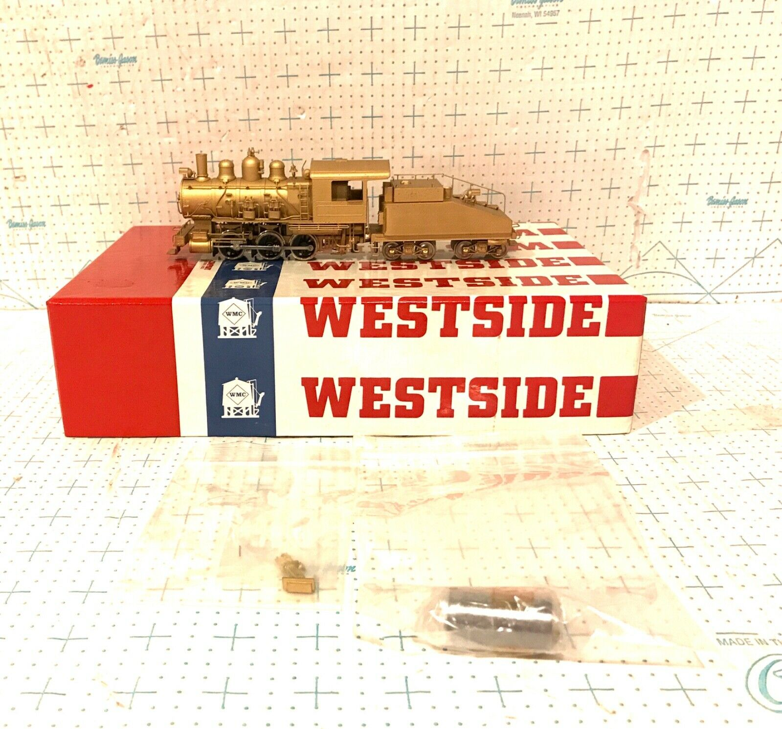 Westside HO Brass Great Northern Silber Label A-9 0-6-0 Double Pump Steam Loco
