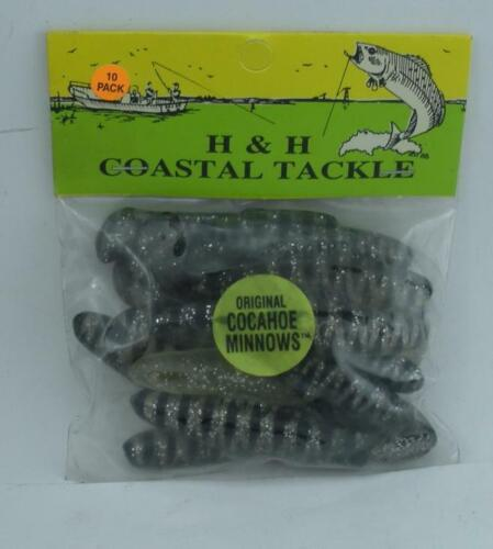 """H/&H Lure CMR10-68 Cocahoe Minnow 3/"""" 10CT Color Clear Tiger Stripes 24462"""