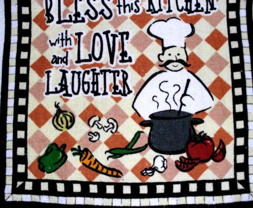Crochet top  Kitchen Dish Towels   #t570 Chef