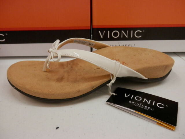 262dc2623e2 Vionic With Orthaheel Womens Bella 2 Thong Sandals 7 White