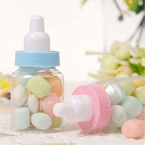 12 PCS Fillable Bottles for Baby Shower Favors Party Decor For Girl Boy Kids New