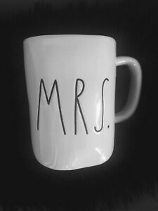 Rae-Dunn-MRS-Magenta-M-Stamp-Large-Letter-Ivory-with-Blk-writing-Farm-House