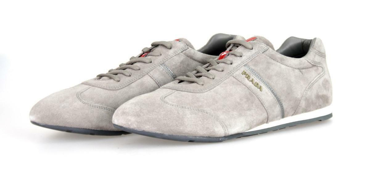 AUTHENTIC LUXURY PRADA SNEAKERS SHOES 4E2778 GREY NEW 7 41 41,5