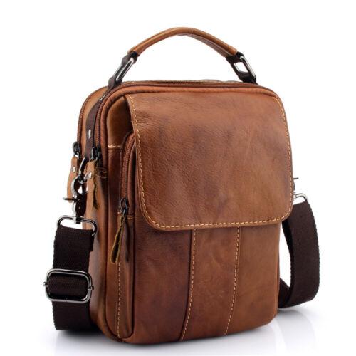 Men Briefcase Tablet Handbag Crossbody Bag Genuine Leather Messenger Satchel