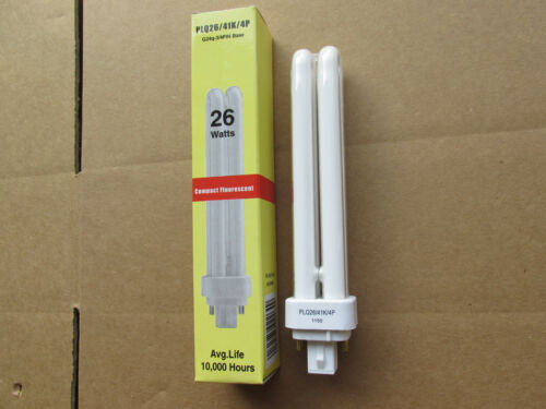 Compact Fluorescent PLQ26//41K//4P 26W 3-4 Pin Cool White F26DBXT4//SPX41//4P NEW!!!