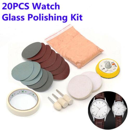 20 X Uhr Auto Glas Polier Windschutzscheiben Kratzer Entferner Reinigung Kit Neu