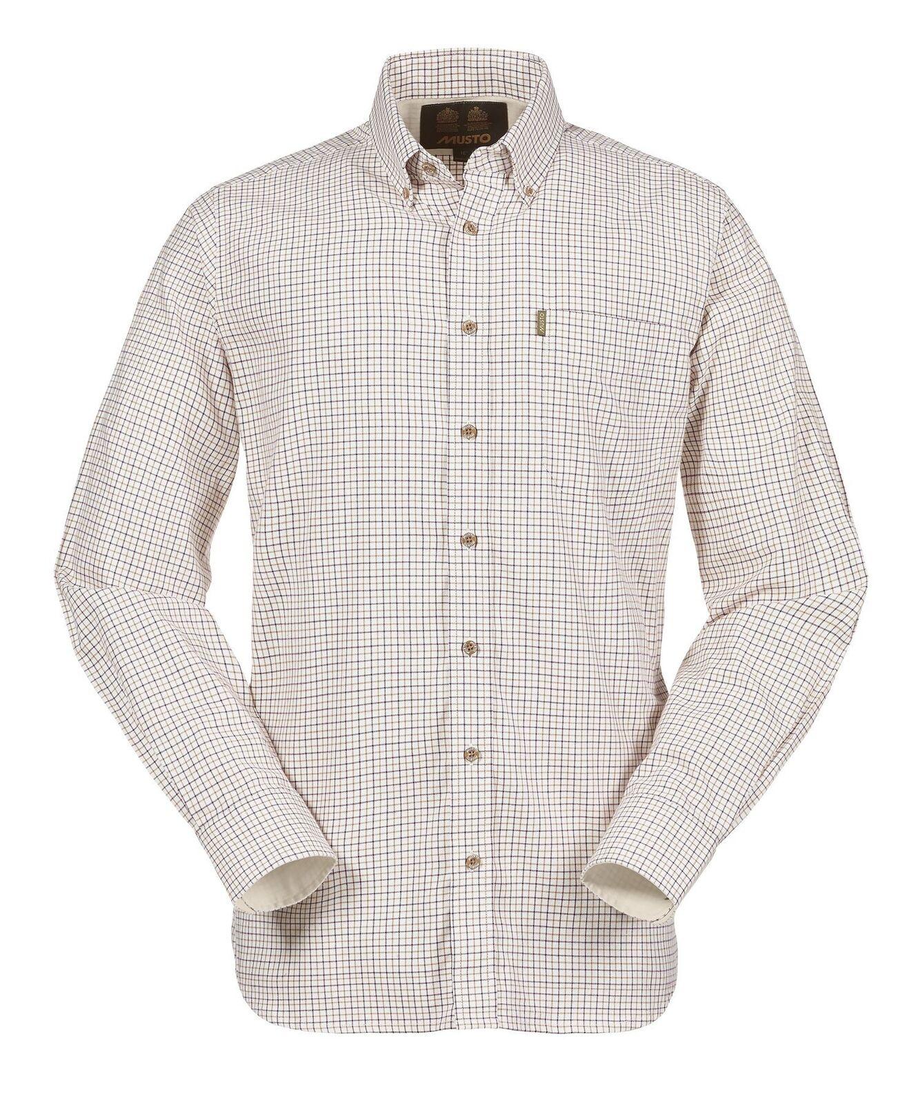 Musto Classic Button Down Shirt - Gorse