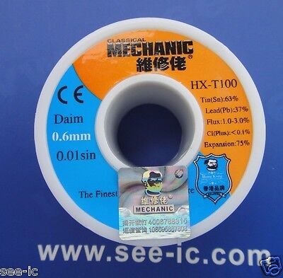 NEW 0.5mm Solder Wire  HX-T100 0.01sin The Finest Quality Solder Sn:63/% pb:37/%