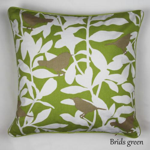 "Luxury Cushion Cover 100/% Cotton Bird Tree Decorative Sofa Pillow Cases 20x20/"""