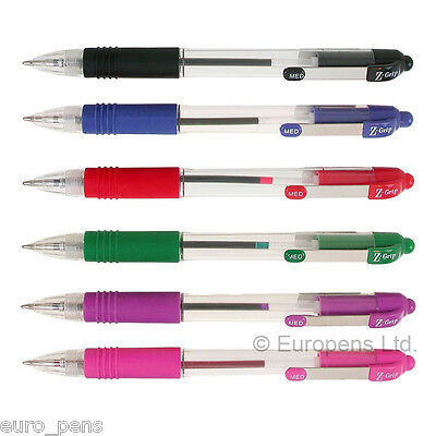 Zebra Z-Grip Retractable Ballpoint Pen - All Colours Available