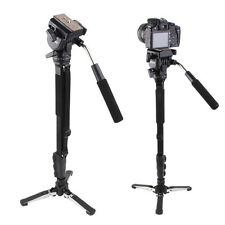 Pro Monopod + Fluid Pan Head Ball + DV Unipod for Canon Nikon DSLR Camera VCT-28
