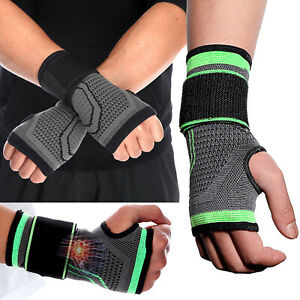 CFR Copper Compression Hand Wrist Brace Support Gloves Arthritis Carpal Tunnel