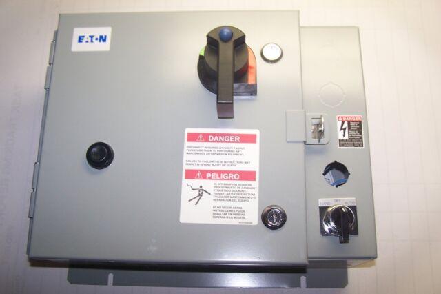 NEW CUTLER HAMMER SIZE 0 COMBINATION MOTOR STARTER 120 VAC COIL ECH1621AAA