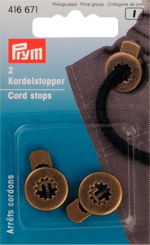 Prym Kordelstopper 1-Loch altmessing 2 St   416671