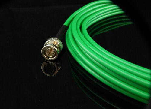 Mini RG59 HDTV SDI//HD New 25/' Green Belden 1855A Digital Video BNC Male Cable