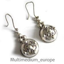Designer Silber Ohrringe Handarbeit Haken silver earrings handwork hook
