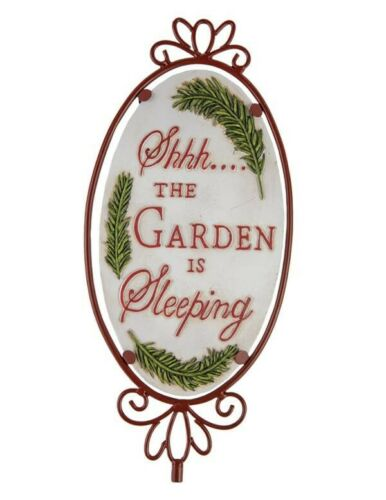 """The Garden Is Sleeping/"""" Sign Victorian Trading Co /""""Shhh..."""
