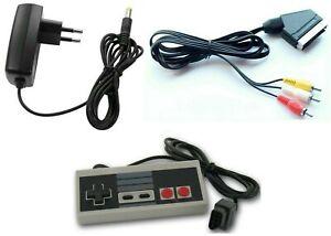 Nintendo-NES-Set-Scart-Kabel-Netzteil-Stromkabel-Controller-Gamepad-fuer-Nes