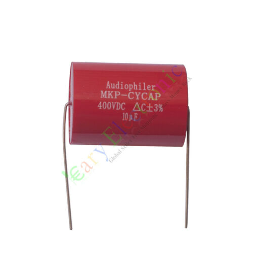 4pc MKP 400V 10uf Red long copper leads Axial Electrolytic Capacitor audio amp