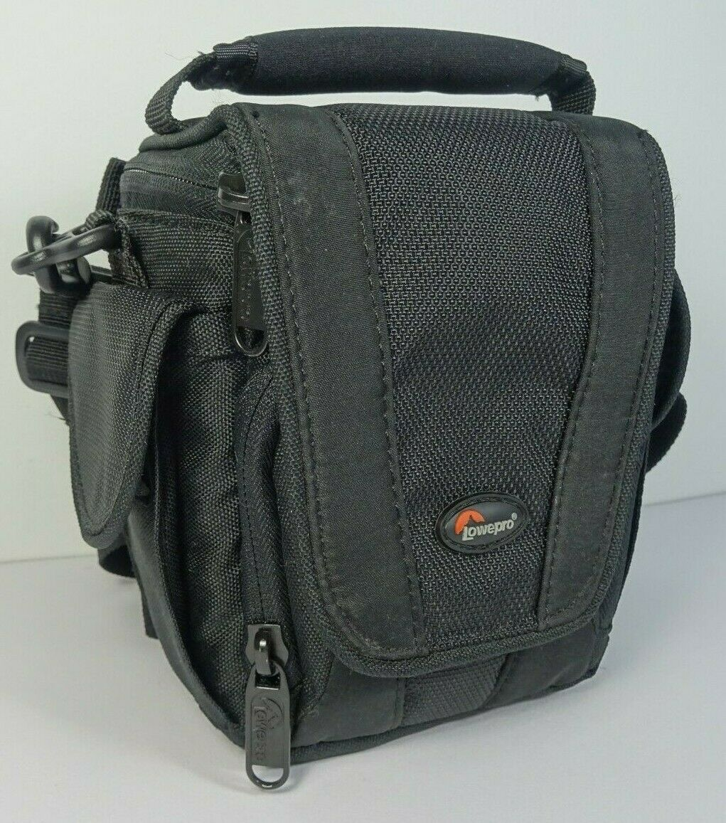 LowePro EDIT100 Black Padded Camera Bag w/ Strap 4 Pockets and Belt loop