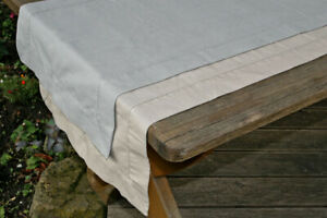 Tischlaeufer-grau-45-x-140-cm-Baumwolle-mit-Lochstickerei