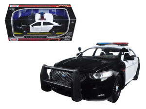 2013 FORD POLICE INTERCEPTOR CAR UNMARKED BLACK//WHITE 1:24 MOTORMAX 76925