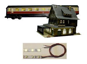 1-St-LED-Waggonbeleuchtung-amp-Hausbeleuchtung-warmweiss-einbaufertig