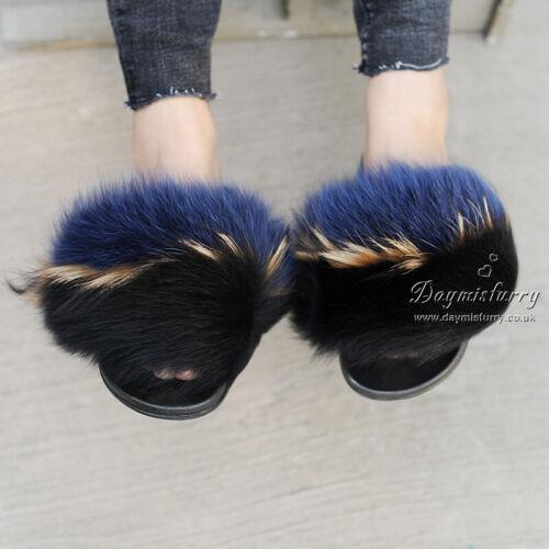 buio dopo di di volpe Pantofole pelliccia XwxOg6Sq8S