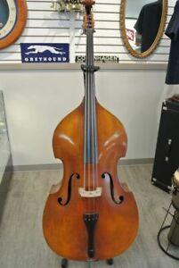 E R Ernst Reinhold Schmidt Upright Double Bass Mittenwald Germany