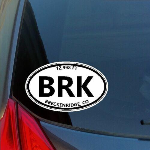 Breck BRK oval sticker decal Breckenridge Colorado Ski Snowboard truck car SUV