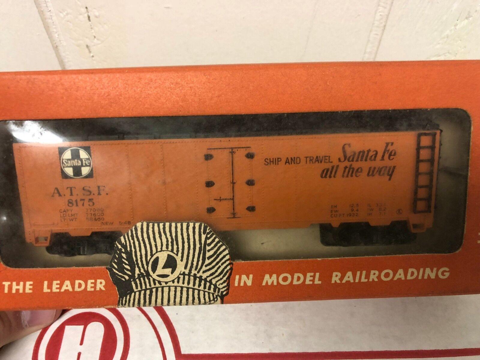 Lionel SCALA HO treno auto 0872 SANTA FE Scatola scatola vintage originale