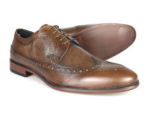 Reisen Diszipliniert Red Tape Leslie Leather Brown Men's Brogues Rrp £45 Free Uk P&p Kleidung & Accessoires Herrenschuhe