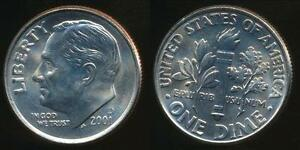 United-States-2001-D-Dime-Roosevelt-Uncirculated