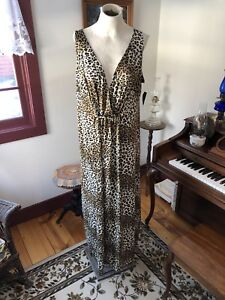 Details about NWT Long Plus Size 2x Nordstrom Animal Print Dress (vacation,  Stretch, 18/20/22)